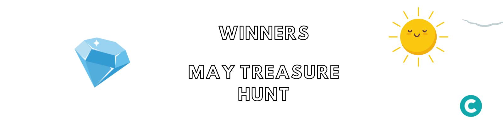 Winners – May Treasure Hunt